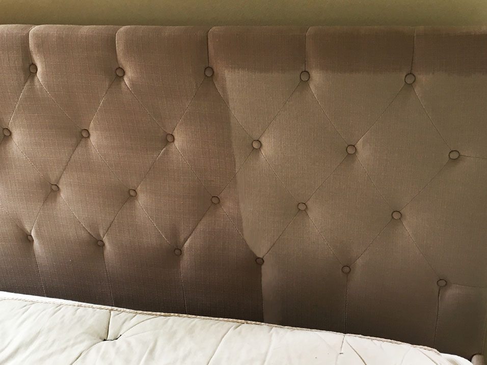 Headboard Cleaning Before & After